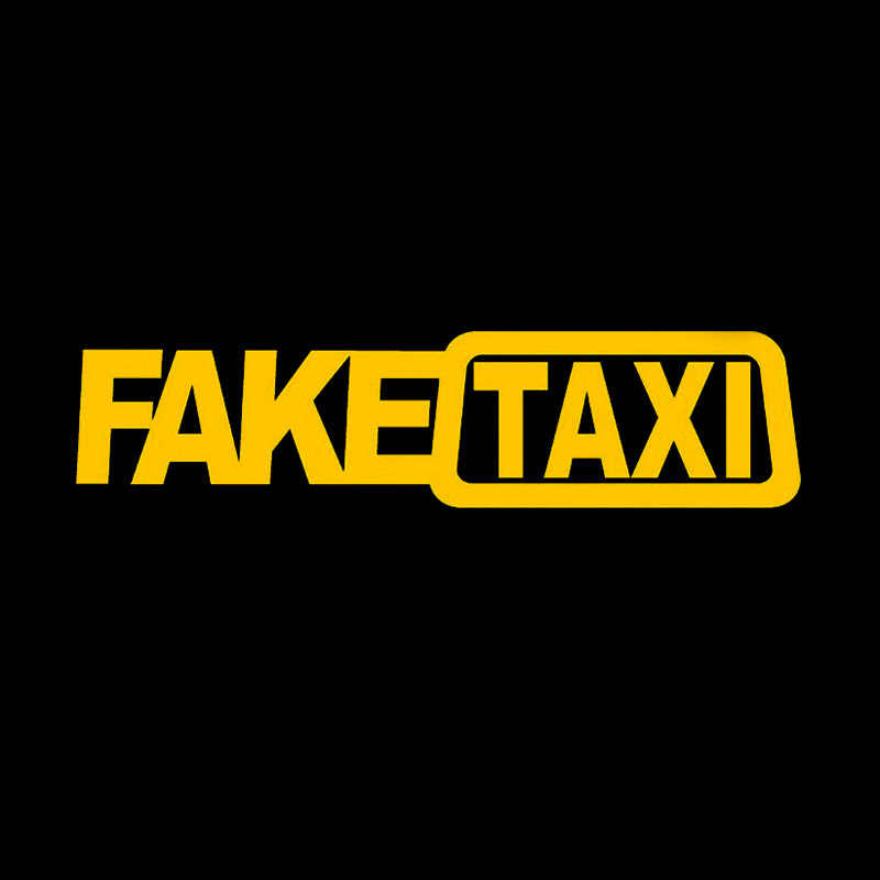 Funny FAKE TAXI Reflective Emblem Vinyl Decals Self Adhesive Car Window Stickers Drifting Racing Decorating 20x5cm