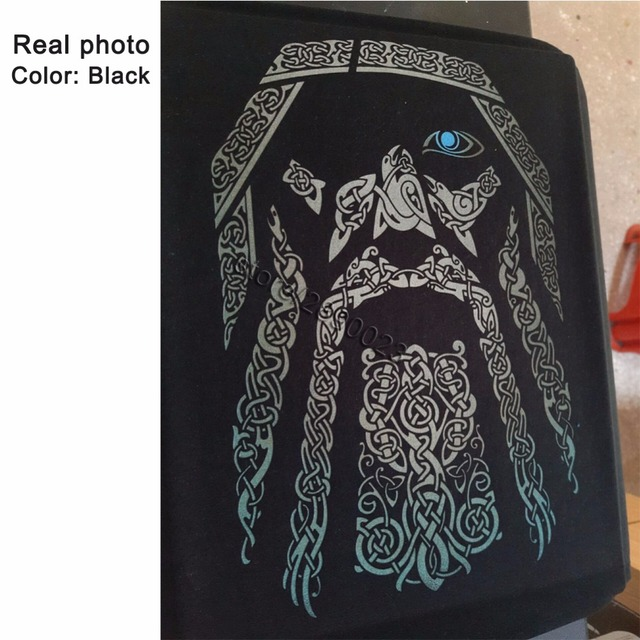 80S Vintage Fashion Odin Vikings T Shirt Men Movie Tees Shirt O-neck Long Sleeve Cotton T-shirt 2