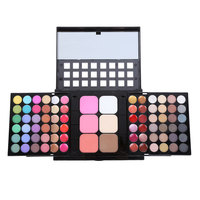 Professional 78 Colors Pearlescent Eye Shadow Eyeshadow Palette Cheek Blusher Lip Gloss Makeup Pallete Makeup Mirror Tool