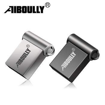 Waterproof super mini metal USB Flash Drive 32GB memoria usb 2.0 4GB 8GB 16GB pen driver 64GB 128GB pendrive Flash usb stick
