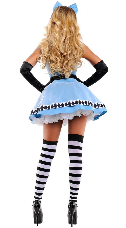 Rebel Toons Alice In Wonderland Costumecomma Sexy Fairy Tale Fancy Dress Escapade