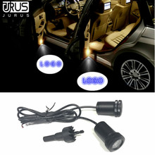 JURUS 2x Led Car Door Lights Laser Projector Auto Welcome Ghost Shadow Light For Rolls Royce Opel Courtesy Lamp