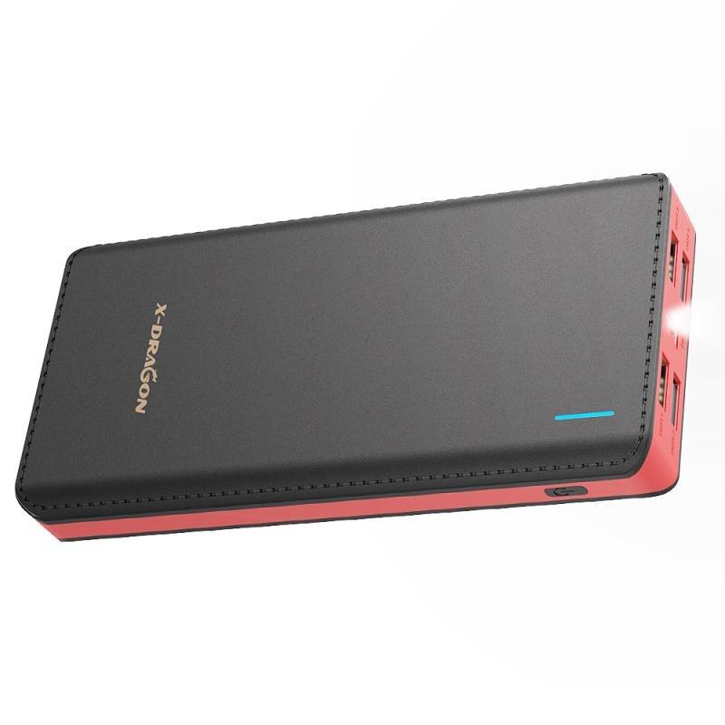 Banco de la energía 24000 mAh powerbank 4 usb que carga para xiaomi iPhone x honor Samsung HTC Sony Nokia LG Vivo OPPO y más.
