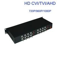 1080P HD CVI AHD TVI 16 CH Video Fiber Optic Optical Media Converters for 1080p 960p 720p AHD CVI TVI Coax. HD Cameras CCTV