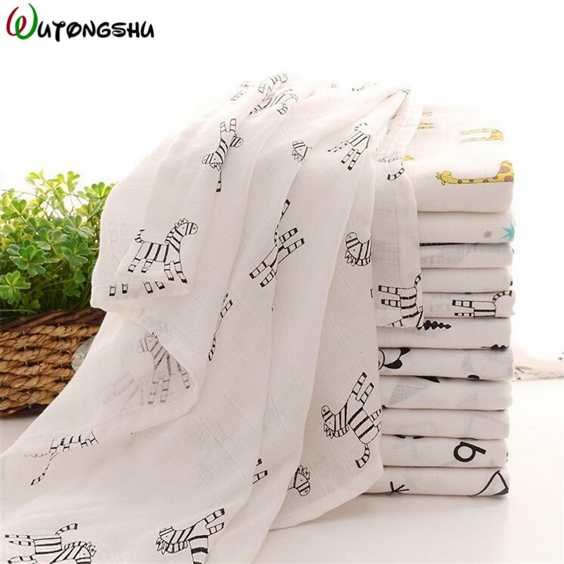 Baby Swaddle Blankets Muslin Blanket Swaddle Soft Newborn Baby Bath Towel Multi Functions Baby Wraps Crib Sleeping Blankets