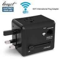 LONGET WiFi International Travel Power Adapter Plug Converter All In One Dual 2 4A USB Universal