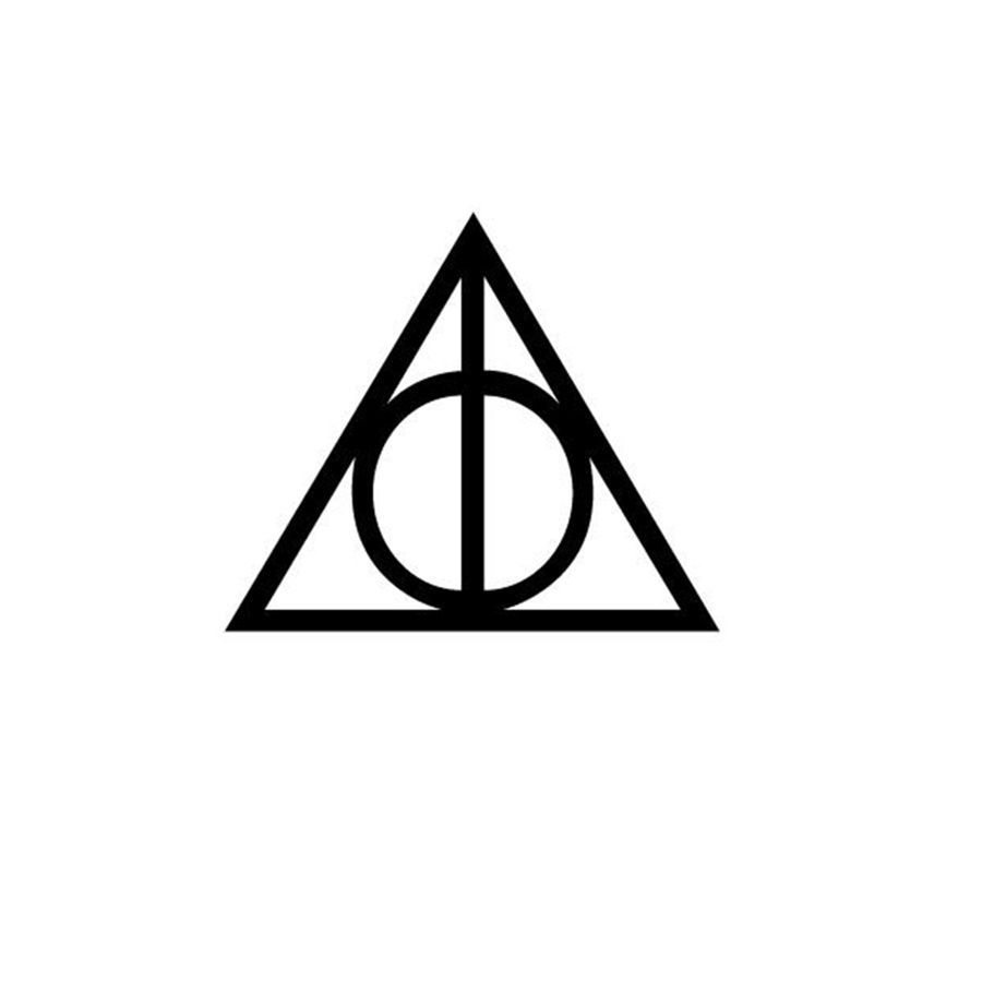 Deathly hallows symbol vinyl sticker harry potter decals for car deathly hallows symbol vinyl sticker harry potter decals for car window decoration in wall stickers from home garden on aliexpress alibaba group buycottarizona