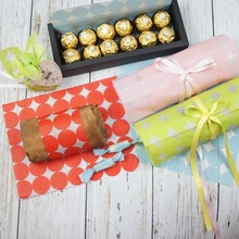 DIY 22*25cm 50pcs 4 color dots design Bread Cake Cookies Food Wrapping Paper Christmas Packaging Butter chocolate soap pack use
