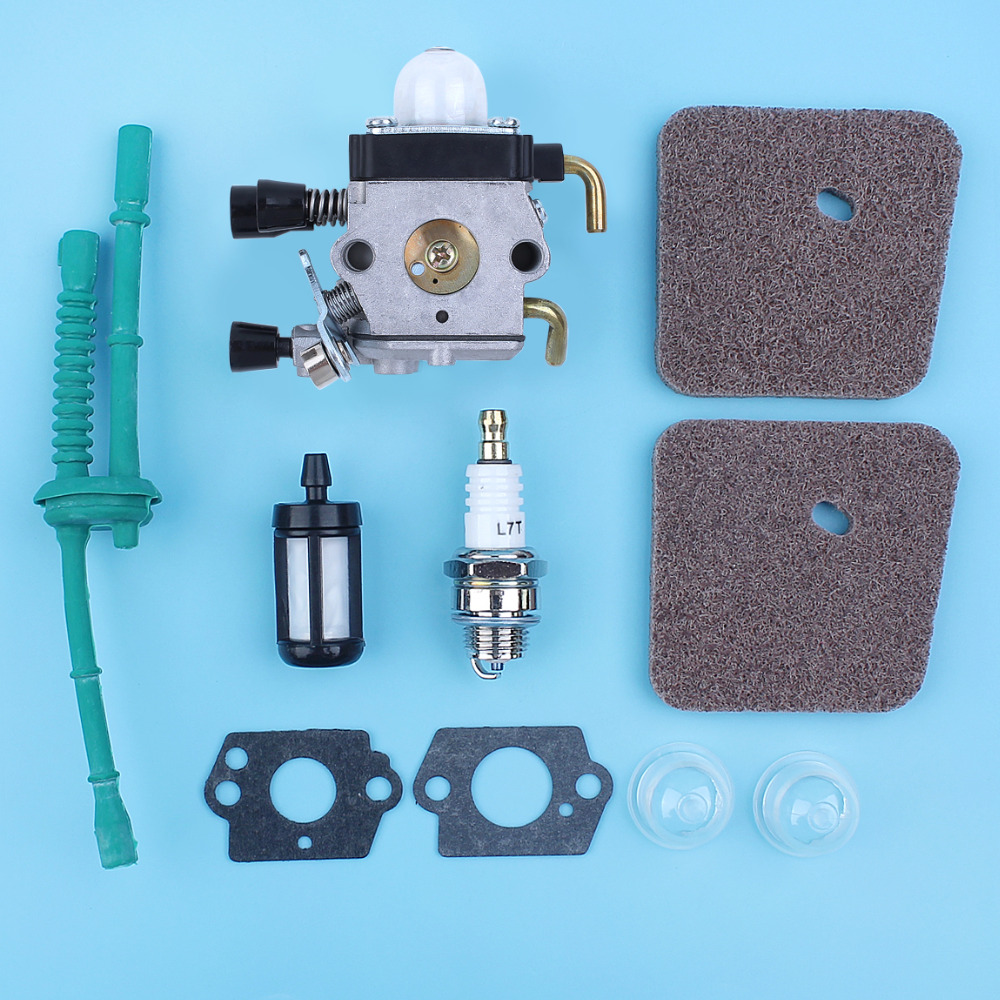 Carburetor Air Fuel Primer Bulb Gaskets Kit Fit <font><b>Stihl</b></font> <font><b>FS38</b></font> FS45 FS46 FS55 KM55 FS85 FS55R FS55RC FS45C FS55T Trimmer Brushcutter image
