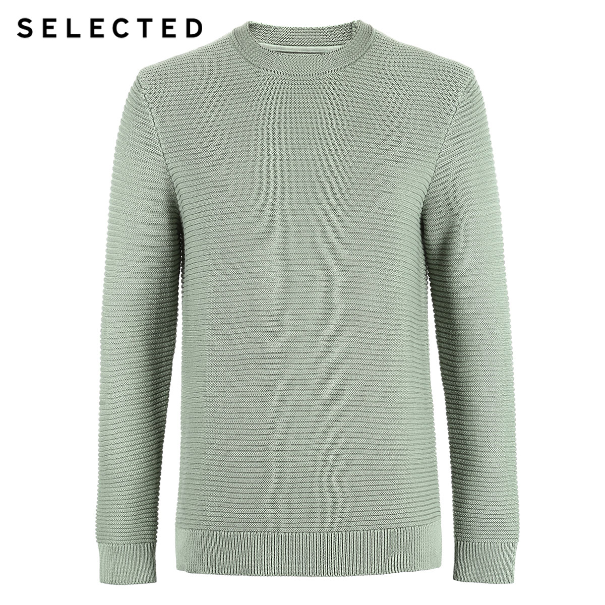 SELECTED Men's 100% Cotton Round Neckline Pullovers Winter New Regular Fit Knitted Sweater S | 419124502