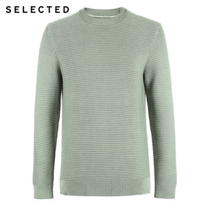Image 5 - SELECTED Mens 100% Cotton Round Neckline Pullovers Winter New Regular Fit Knitted Sweater S