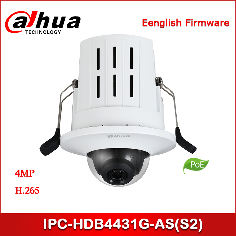 Dahua IP Camera IPC-HDB4431G-AS (S2) 4MP HD Recessed Mount Dome Network Camera Support PoE Security Camera