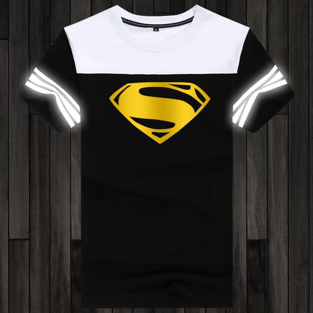 Superhero Fashion Night reflective glow in dark T-Shirt Men