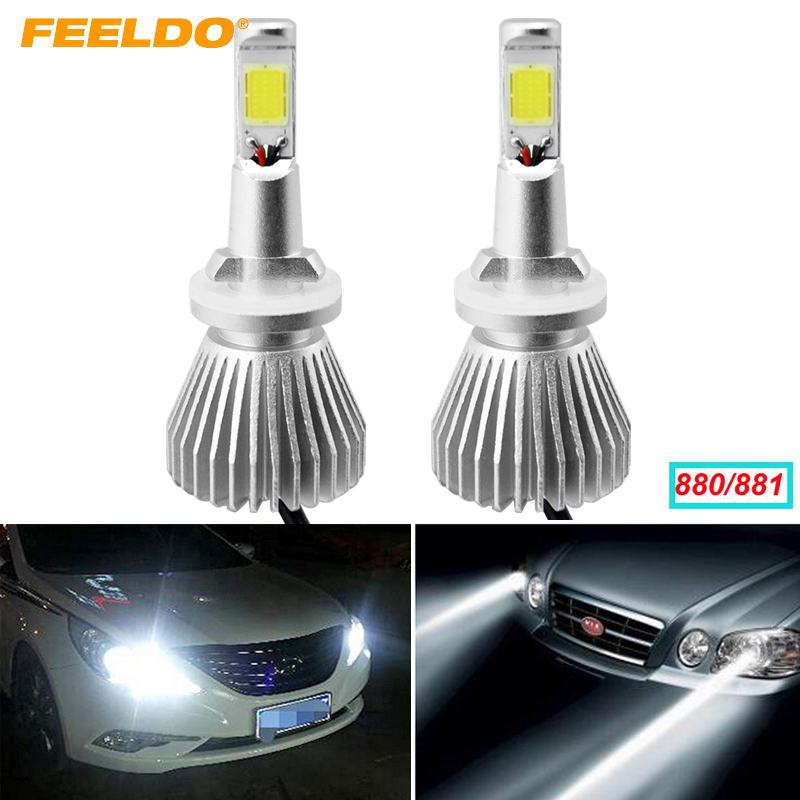FEELDO 3Pair 880 881 H27 60W 6400LM Car COB LED Headlight Kit Fog Lamp Bulbs Light Xenon 6000k #FD-2871 smartbuy urban trend