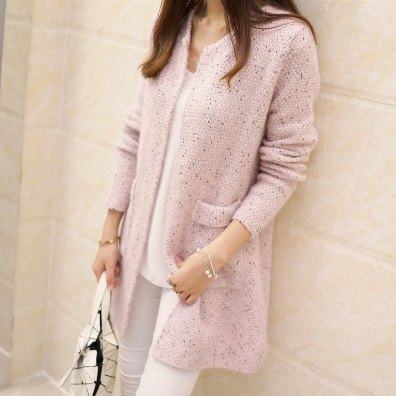 Women Loose Knitted Sweater Long Sleeve Casual Tops Cardigan Outwear Coat S72