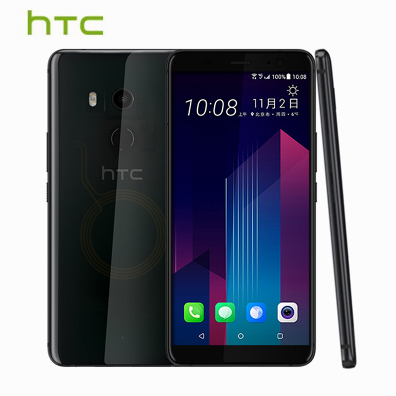 HTC U11 Plus U11+ 6GB 128GB <font><b>Mobile</b></font> <font><b>Phone</b></font> Snapdragon 835 Octa Core IP68 Waterproof 6.0&#8243; 18:9FHD Android 8.0 1440x2880px Cellphone
