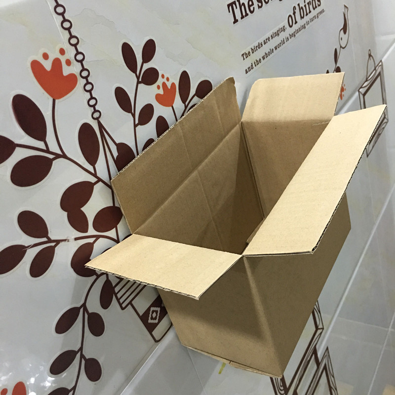 5pcs Small package Thickening courier carton, Easy to use repeatedly,kraft wedding candy box brown square cardboard gift carton