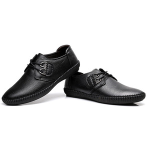 Image 5 - Mens Fashion cow Leather Shoes Working Shoes Lace Up Business Casual Genuine Leather Shoes Flats Male sneaker Zapatos De Hombre