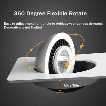 [DBF] 360 زاوية للتدوير LED البوليفيين راحة النازل ساحة 10W 14W 20W 24W LED بقعة ضوء السقف لصورة التلفزيون خلفية 220V 3