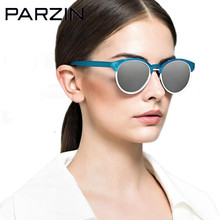Parzin Polarized Sunglasses Women New Colorful TR 90 Female Sun Glasses Vintage Ladies Glasses Eyewear With Case Black  9866
