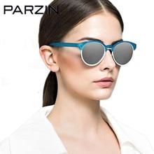 Parzin поляризованных солнцезащитных очков Новинки для женщин Красочные TR 90 женские солнцезащитные очки винтажные женские очки с футляром черный 9866