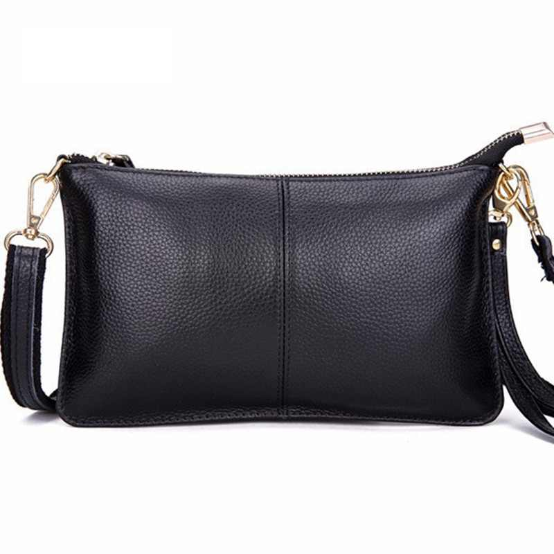 100% Genuine Leather Women Bag Fashion Crossbody Bag Shoulder Smll Messenger Bags for Women Leather Ladies Clutch sac a main