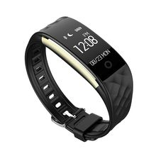 S2 Bluetooth 4.0 Смарт-часы Фитнес heartrate Мониторы браслет для IOS Android черный