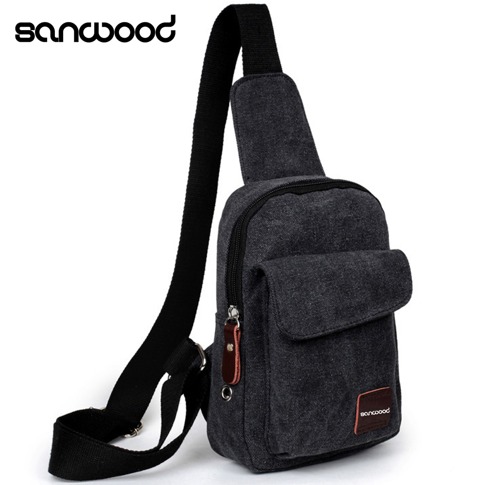 New Trendy Men Canvas Satchel Casual Cross Body