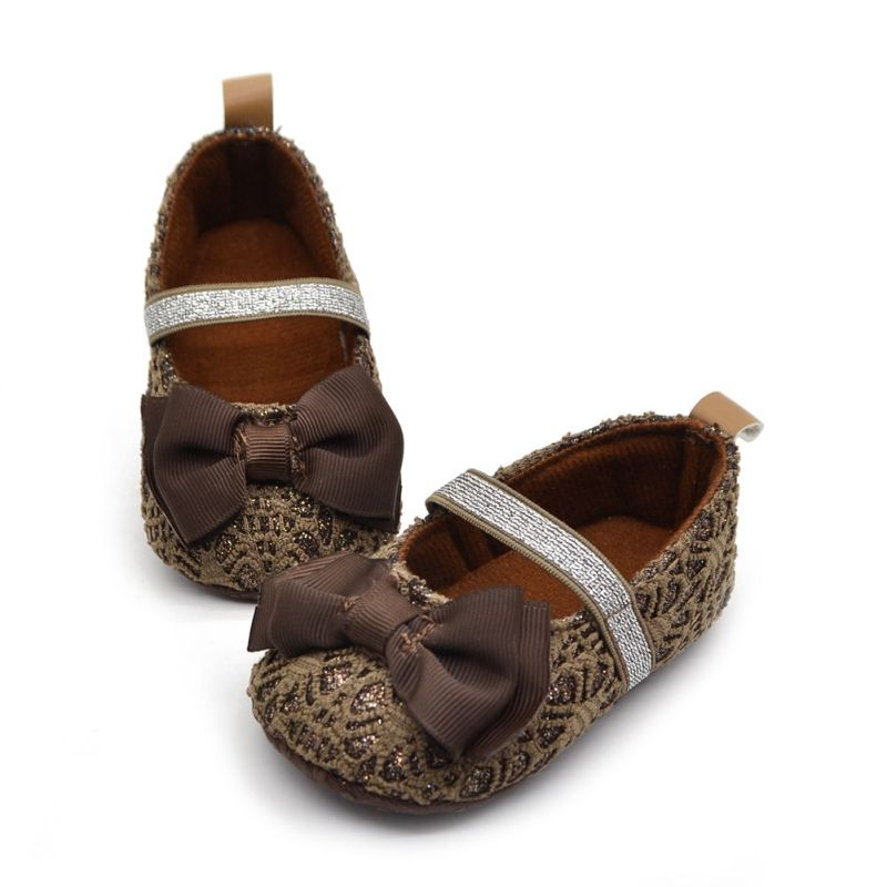 Baby Shoes Flower Anti-Slip Soft-Soled Toddler Newborn Bowknot 0-18M Beauty