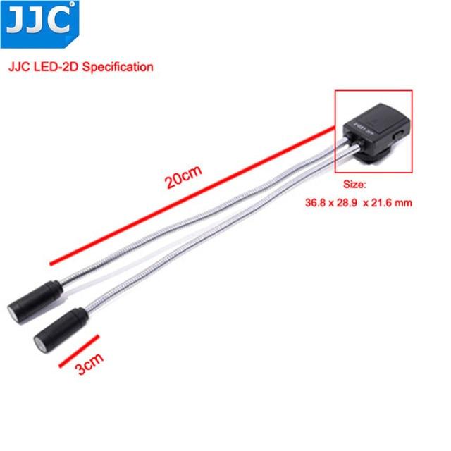 JJC Camera light Flexible Macro LED Lamps Flash Light Speedlight for Canon 60D 5D Mark II 5D Mark III 760D 750D Sony Nikon DSLR