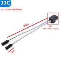JJC מצלמה אור גמיש מאקרו LED מנורות פלאש אור מבזק עבור Canon 60D 5D Mark II 5D סימן III 760D 750D Sony ניקון DSLR