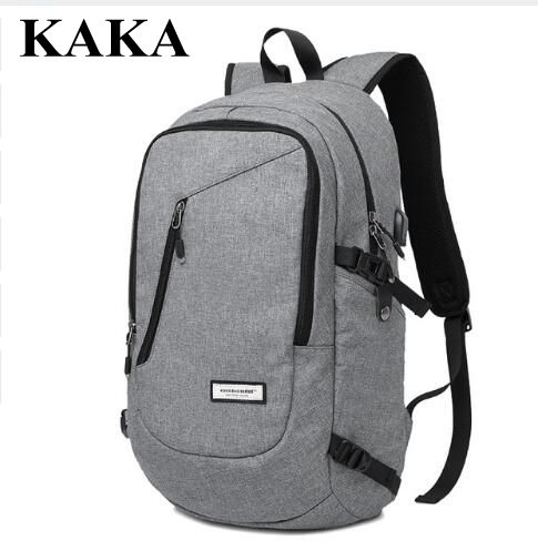 KAKA Canvas Laptop Backpack Men School bag Mochila Men Rucksack 15.6 Inch Laptop Backpack Travel Backpack Shoulder Bags rucksack new vintage backpack canvas men shoulder bags leisure travel school bag unisex laptop backpacks men backpack mochilas armygreen