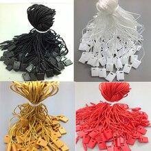 100 шт. полиэстер кнопки строка, используемая для одежды, бирки веревки с черным или белым pin, высокое качество