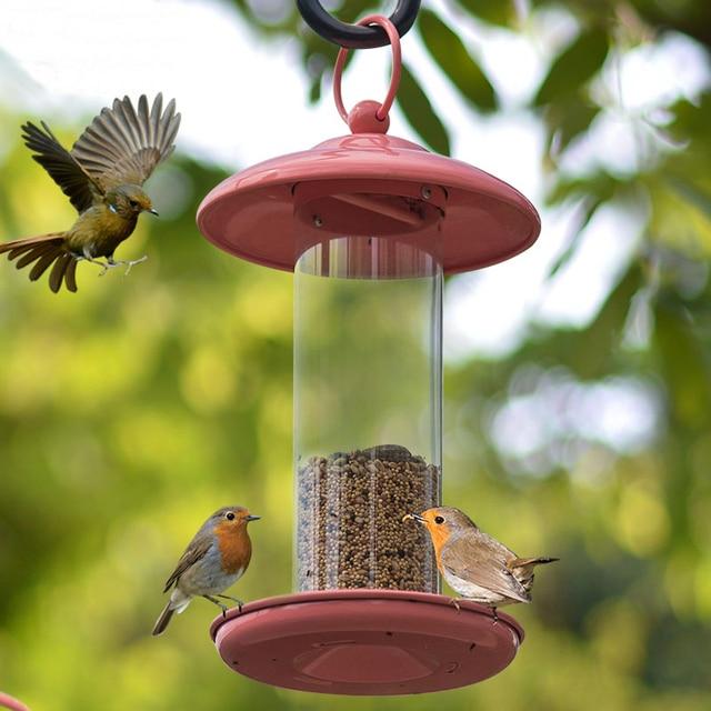 Outdoor Balcony Birdcage Feeder Bird Perching Decorative Hanging Garden  Park Birdseed Feeder 25cm X15cm
