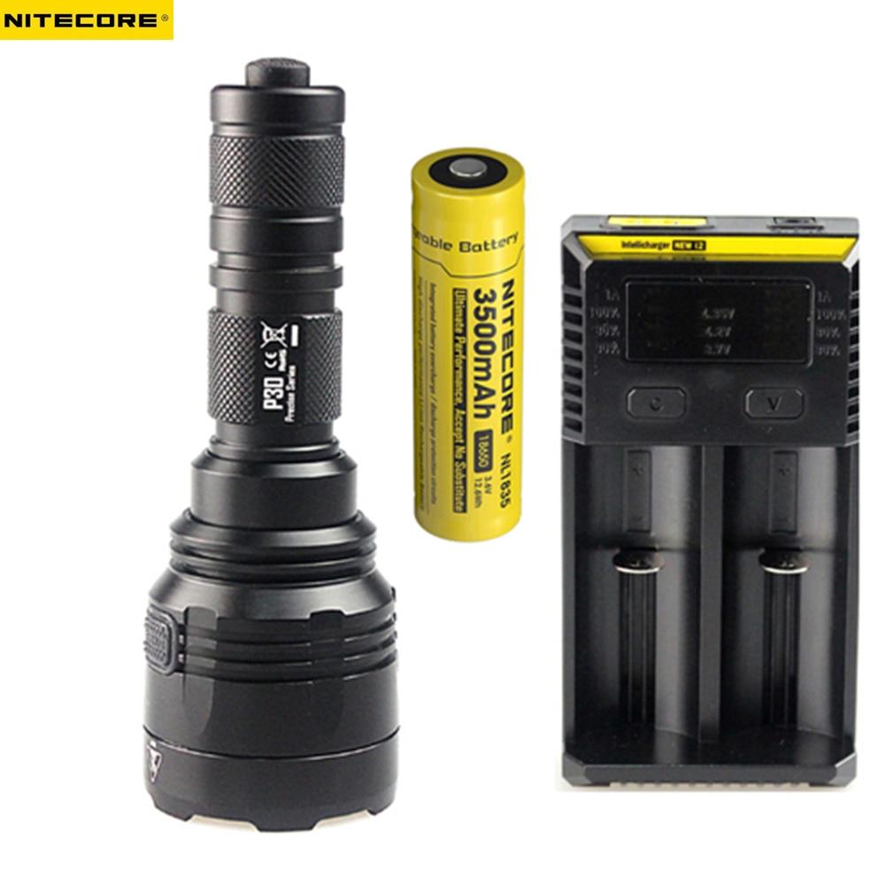 NITECORE P30 5 Modes CREE XP-L HI V3 LED max.1000LM LED Flashlight Long Range 618 meter LED Hunting Torch Search LED Light nitecore mh25gt 1000lm cree xp l hi v3 led rechargeable flashlight torch