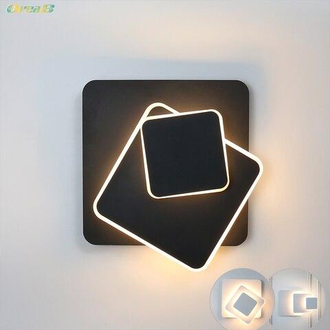nordic indoor led arandela luzes de parede 13 w 180 graus rotacao combinacao lampada parede