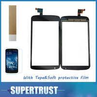 4,7 para HTC deseo 526 526G D526h V02 Digitalizador de pantalla táctil lente Sensor Color negro con cinta y suave película protectora