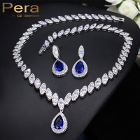Pave Setting Cubic Zirconia Diamond Luxury Bridesmaid Accessories African Nigerian Bridal Wedding Jewelry Sets For Women