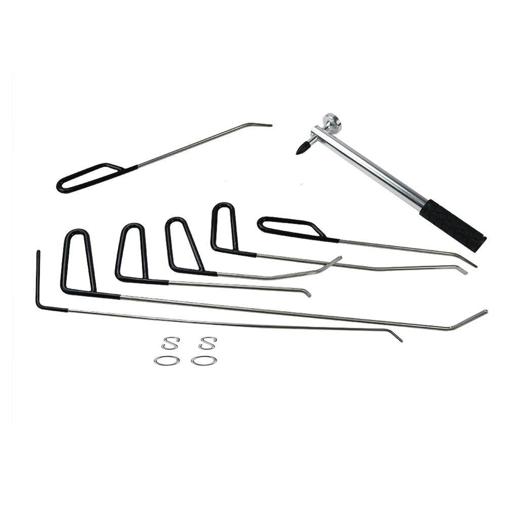 Furuix Aste Gancio Strumenti Ammaccature senza vernice Riparazione Auto Dent Removal Tool Kit Grandine Martello