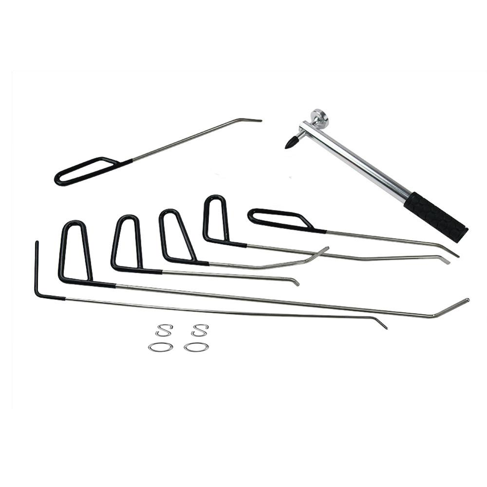 Furuix PDR Rods Hook Tools Paintless Dent Repair Car Dent Removal PDR Tool Kit Hail Hammer