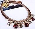 Colares de moda para as mulheres 2017 cor geométrica declaração choker colares colar & pingentes de ouro jóias acessórios xl62201