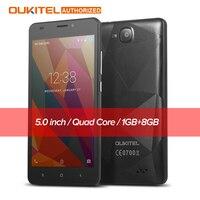 Original Oukitel C3 5 0 Inch Mobile Phone Android 6 0 MT6580 Quad Core 1 3GHz