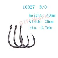 80pcs 10827 Size 8 0 Stainless Steel Ocean Fishing Hooks No Rust Fishing Tackle