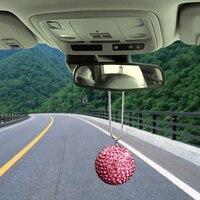 Car Pendant 5cm Diamond Crystal Lucky Ball Decoration Ornament Charms Automobile Interior Rearview Mirror Decor Accessories