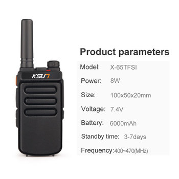 (2pcs) KSUN X-30 Handheld Walkie Talkie Portable Radio 8W High Power UHF Handheld Two Way Ham Radio Communicator HF Transceiver 1