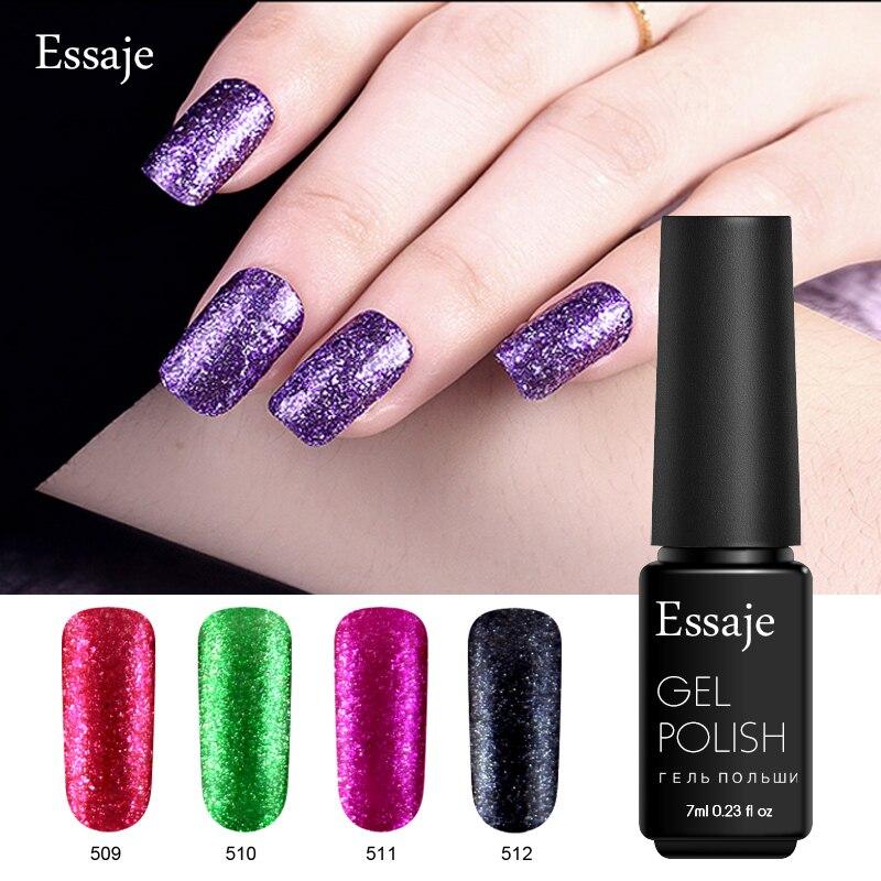 essaje bling glitter platinum nail