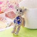 Мода Хрустальный Медведь Брелок 5 цвета Животное Медведь Key Chain Брелки Ключи от машины Кольцо Девушка подарки Porte Clef Женщины Сумку очарование Llaveros