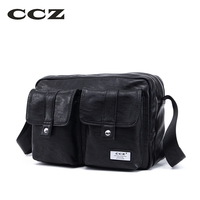 CCZ New Shoulder Bag High Quality PU Leather Men Bag Crossbody Bags For Man Casual Business