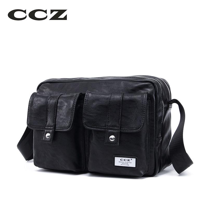 CCZ New Shoulder Bag High Quality PU Leather Men Bag Crossbody Bags For Man Casual Business Male Work Bag Bolsas SL8011 ...