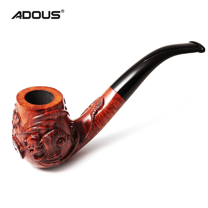 Hand-Carved Briar Smoking pipe Elegant Series 1